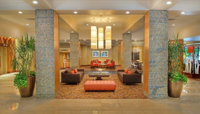 lobby of double tree hotel