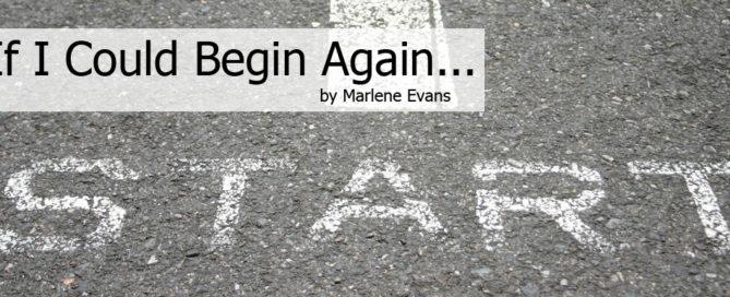 if i could begin again