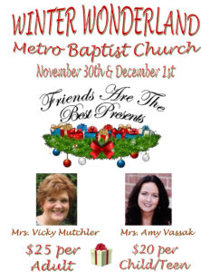 metro baptist belleville winter wonderland ladies conference