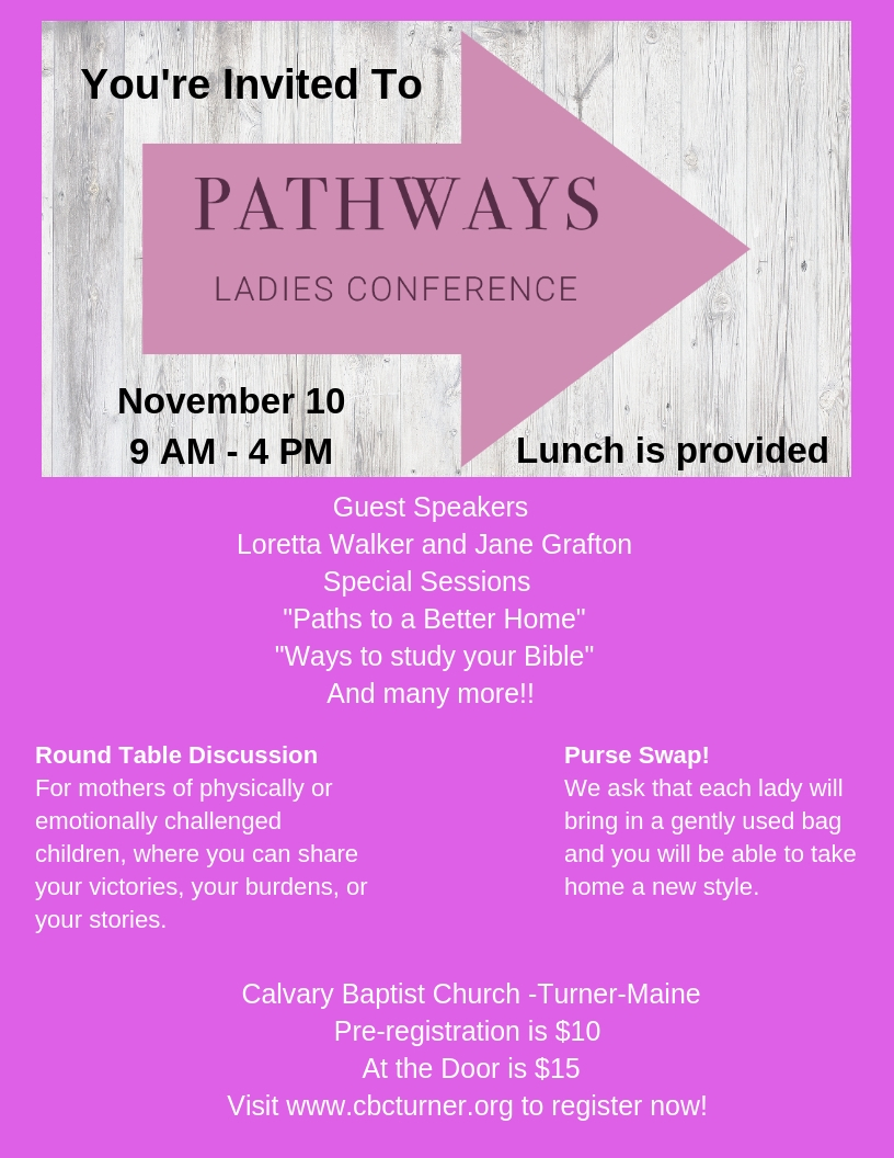 ladies conference turner maine